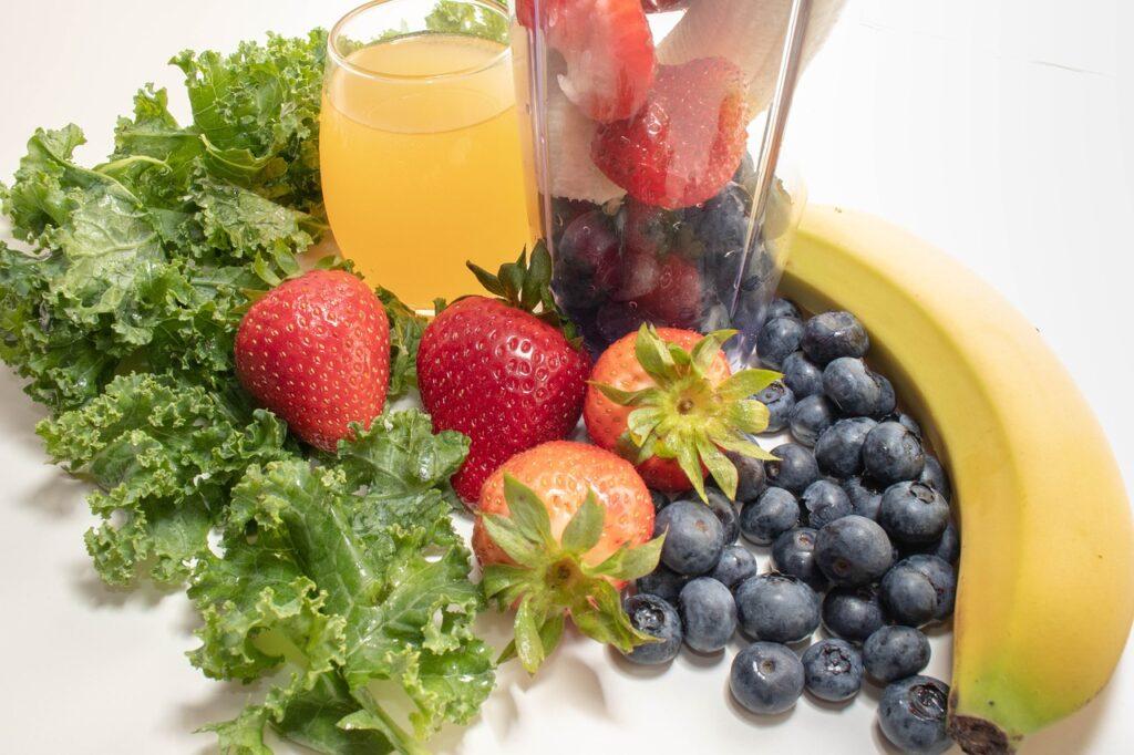 フルーツとジュース
